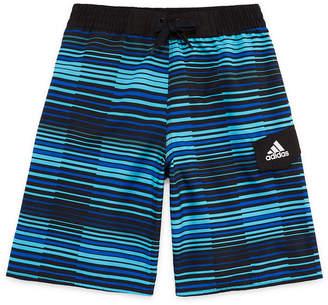 adidas Vara Stripe Swim Trunks-Boys 8-20