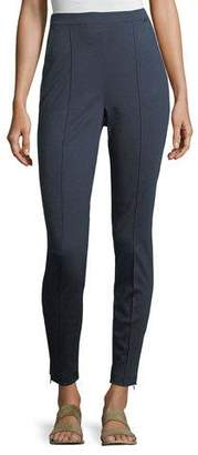 St. John Melange Stretch-Ponte Pull-On Leggings