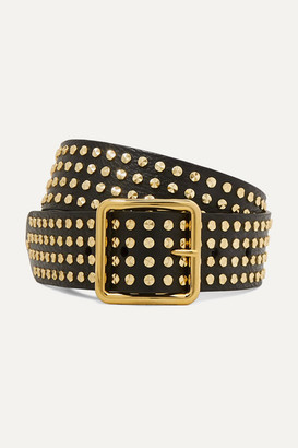 Alexander McQueen Studded Textured-leather Waist Belt - Black