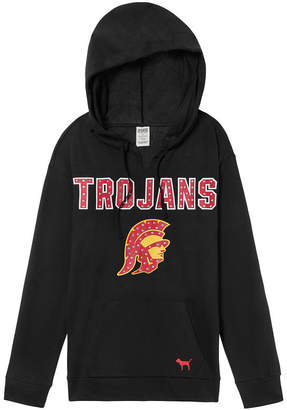PINK University of Southern California (Usc) Bling Campus Split Neck Pullover