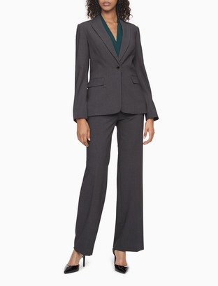 Calvin Klein one button charcoal suit jacket