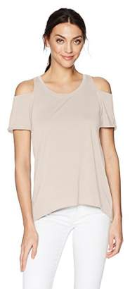 LAmade Women's Relax Fit Cold Shoulder Tee