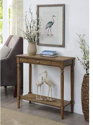 Convenience Concepts French Country Hall Table with Drawer and Shelf