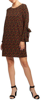 Dex Floral-Print Bell-Sleeve Tunic