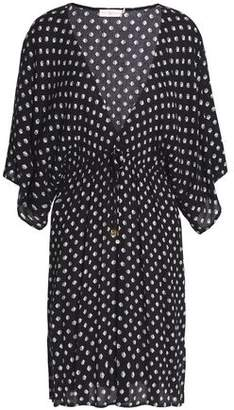 Tory Burch Printed Crinkled Gauze Coverup