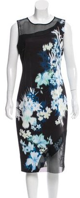 Elie Tahari Mesh-Paneled Midi Dress $95 thestylecure.com