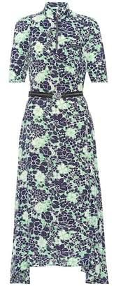 Prada Floral stretch silk dress