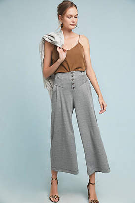 Maeve Houndstooth Wide-Leg Pants