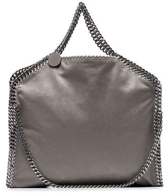 Stella McCartney grey Falabella chain detail shoulder bag
