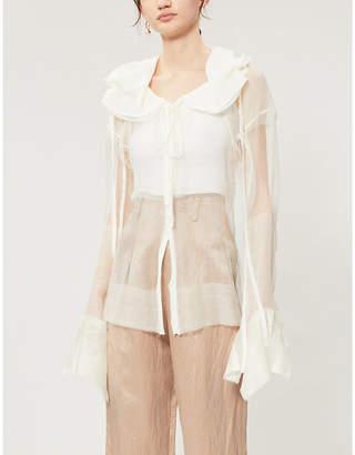 PHAEDO Sheer wool and silk blend shirt