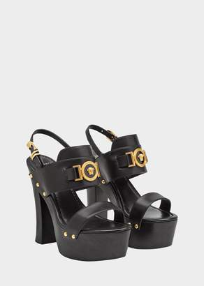 Versace Icon Platform Leather Sandals