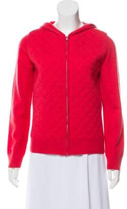 Magaschoni Quilted Cashmere-Blend Sweater