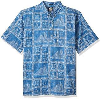 Reyn Spooner Men's Newport Sailor Spooner Kloth Classic Fit Pullover Shirt