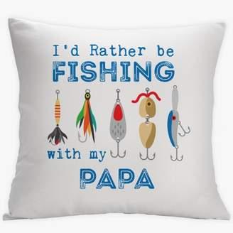 MonogramOnline I'd Rather Be Fishing Custom Decorative Cushion Cover