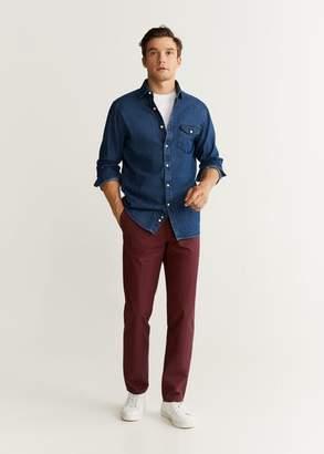 MANGO Regular fit cotton chino trousers