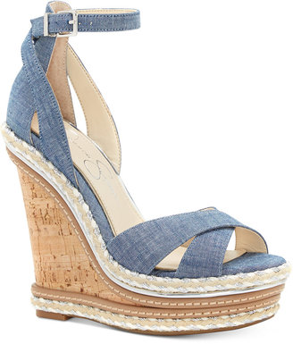 Jessica Simpson Ahnika Ankle-Strap Wedge Sandals $119 thestylecure.com