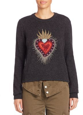 Cinq a Sept Sacred Heart Pullover $475 thestylecure.com