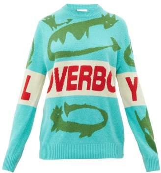 Charles Jeffrey Loverboy Loverboy Little Sillies Wool Jumper - Womens - Green Multi