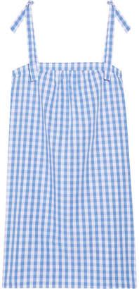 Three J NYC Stella Gingham Cotton-poplin Nightdress - Blue