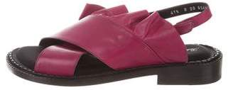 Robert Clergerie Ruffled Crossover Sandals