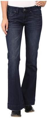 Rock and Roll Cowgirl Trousers Low Rise in Dark Wash W8-8486 Women's Jeans