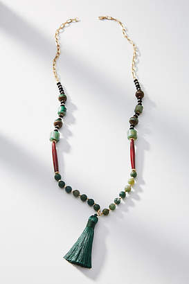 Anthropologie Rhea Tasseled Necklace