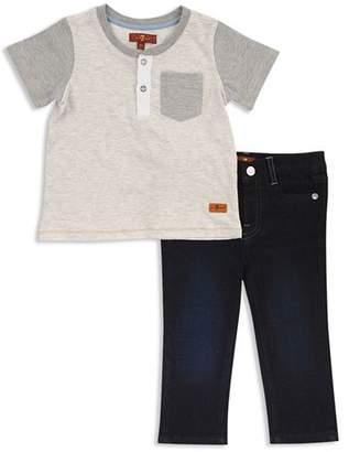 7 For All Mankind Boys' Short Sleeve Henley Tee & Jeans Set - Little Kid