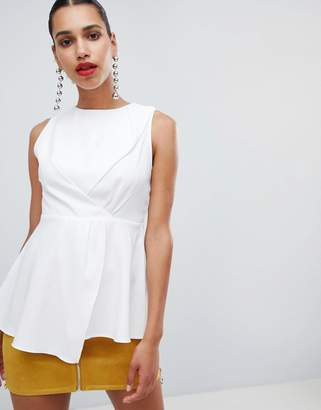 PrettyLittleThing High Neck Peplum Top