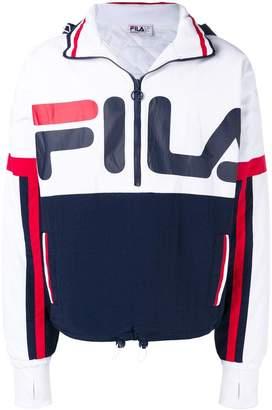 Fila logo print hooded jacket