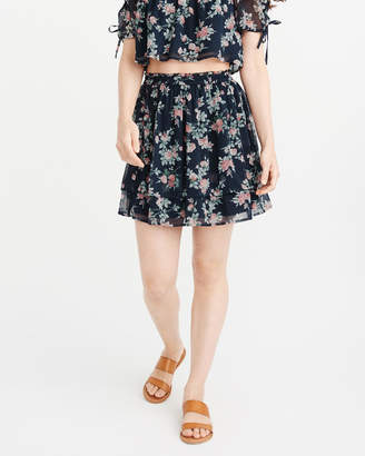 Abercrombie & Fitch Floral Chiffon Mini Skirt