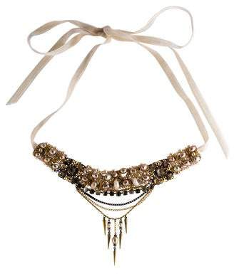 Erickson Beamon Faux Pearl & Crystal Necklace