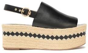 Tory Burch Leather Platform Espadrille Sandals