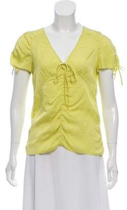 Marc by Marc Jacobs Ruched Silk-Blend Top