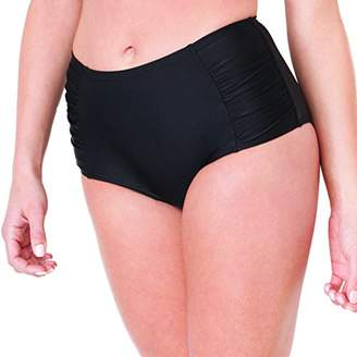 Smart & Sexy Smart+Sexy Women's High-Waisted Shaping Bikini Bottom with Side Ruching