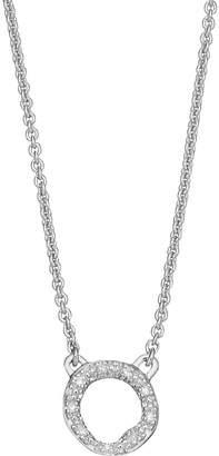 Monica Vinader Riva Mini Circle sterling silver and diamond necklace