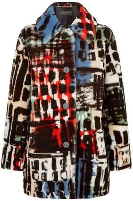 Burberry Printed Shearling Jacket