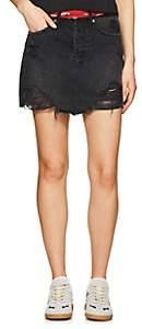 Ksubi Women's Moss Distressed Denim Miniskirt - Black