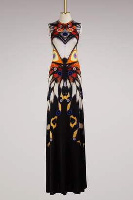 Givenchy Butterfly Long Jersey Dress