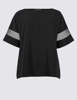 Marks and Spencer Round Neck Half Sleeve Kimono Shell Top