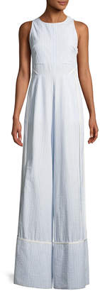 Tanya Taylor Stevie Striped Wide-Leg Jumpsuit