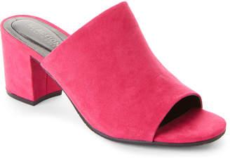 Kenneth Cole Reaction Fuchsia Mass-ter Mind Block Heel Mules