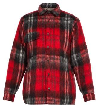 Bless Woodhacker Checked Wool Blend Shirt - Mens - Red