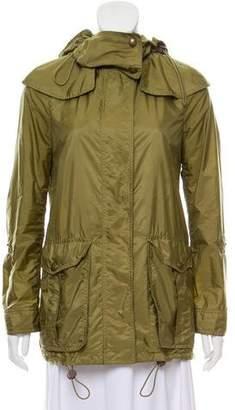 Burberry Hooded Zip Front jacket