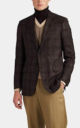 Brioni Men's Ravello Plaid Flannel Two-Button Sportcoat - Brown