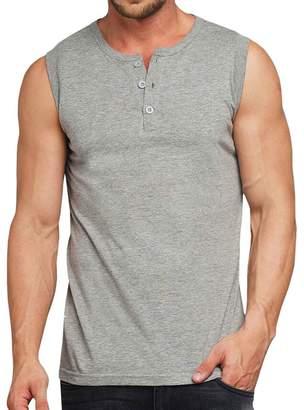 de736d0cc9964 Domple Mens Sleeveless Buttons Sports Fashion Workout Tank T-Shirts Tops S