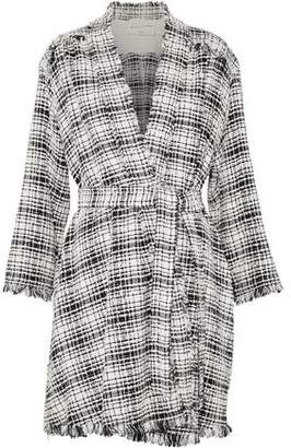Sonia Rykiel Fringe-Trimmed Cotton-Blend Bouclé-Tweed Coat