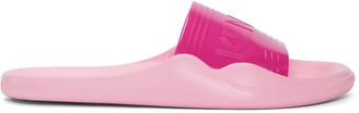 Kenzo Pink Logo Beach Slide Sandals $115 thestylecure.com