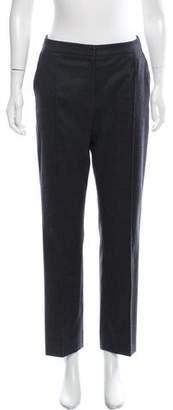 Oscar de la Renta Wool Mid-Rise Pants