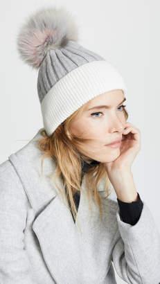 Jocelyn Knit Hat with Fur Pom