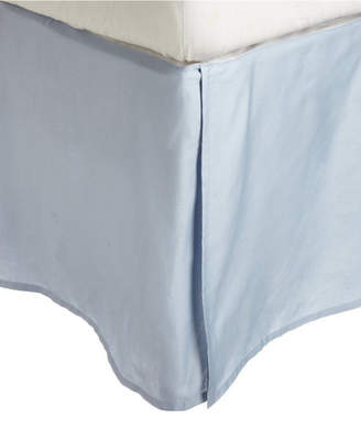 Home City Inc Superior 600 Thread Count Cotton Rich Scroll Park Bed Skirt - Queen - White Bedding
